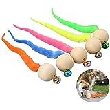 Calayu Juego de 5 juguetes interactivos para gatos, con campana, bolas que se mueven, coloridas