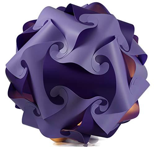 Puzzle Lampe xl 45cm Lampenschirm Steh- Designer- Deco Deckenleuchte flieder-lila