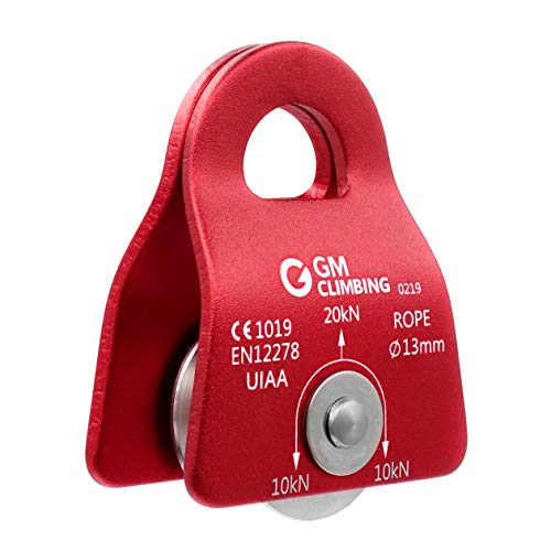 """GM CLIMBING UIAA Certified Red Micro Prusik Minding Pulley 1/2"""""""