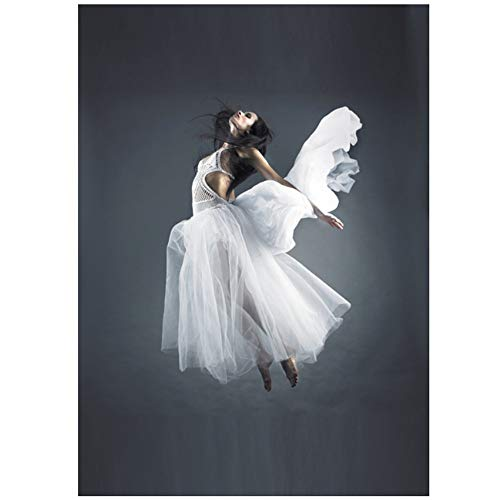NIEMENGZHEN Kunstdruck auf Leinwand Modern Girl Portrait Leinwandbilder Poster Engel Gemälde Wandbilder-60x80cm No Frame