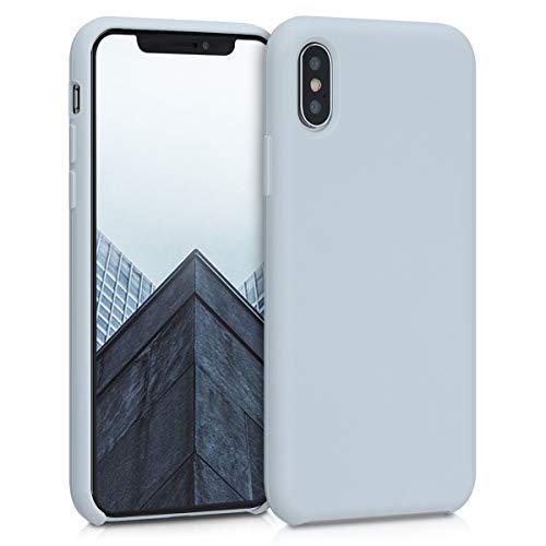 kwmobile Hülle kompatibel mit Apple iPhone XS - Hülle Silikon gummiert - Handyhülle - Handy Hülle in Hellgrau matt