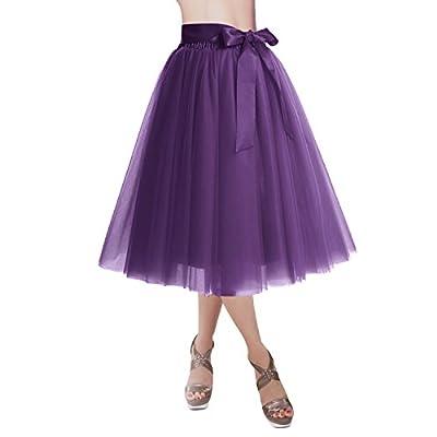 DRESSTELLS Knee Length Tulle Skirt Tutu Skirt E...