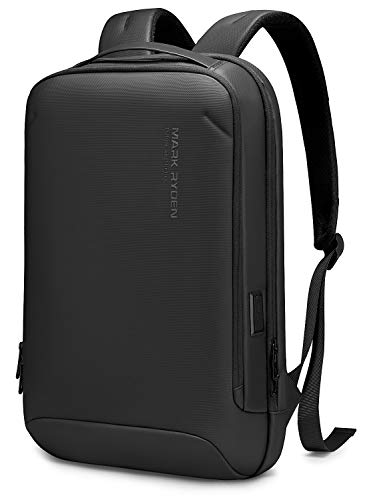 【2021NEW】Laptop Backpack ,MARK RYDEN Slim Durable Lightweight Business Bag With USB Charging Port Fit 15.6 inch PC For Men Hard Shell Waterproof Backpack