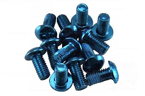 DiscoBrakes 12x Farbige Legierung Torx Kopf Bremsscheibe Rotor Schrauben, M5Schraube mit Gewinde Lock, blau