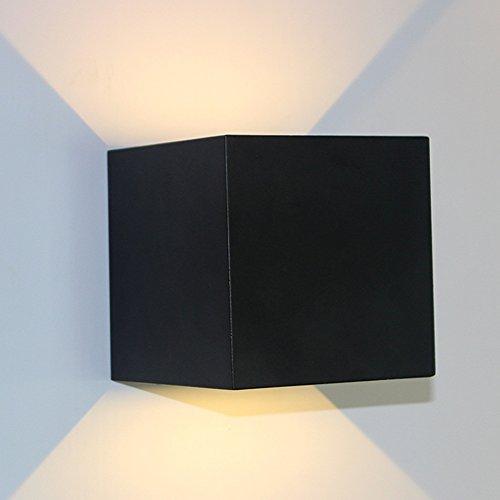 Wandlampen buitenverlichting met verstelbare kubus, wandlamp naar beneden