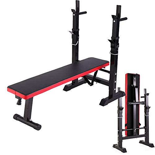 Adjustable Weight Bench - Multi-Function Folding Home Fitness Exercise Weight Lifting Press Bench for Strength Workout and Fitness Exercise