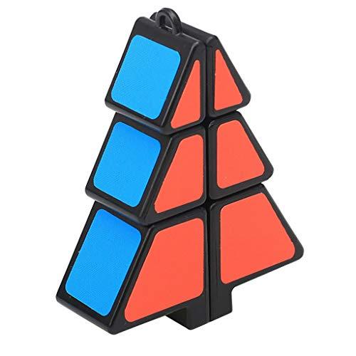 Artistic9 Mini Cube Puzzle Party Spielzeug Weihnachtsbaum Form Zauberwürfel Kunststoff Twist IQ Puzzle Spielzeug Umweltfreundliche Sicherheit Bunte Würfel Loch Kinder Fördern die Entwicklung