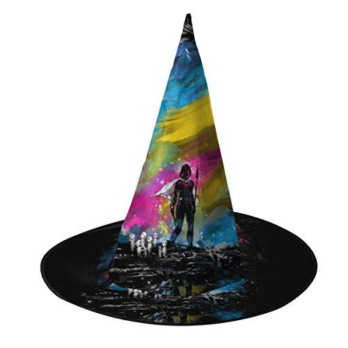 Sombrero de Halloween Atardecer en el Bosque Princesa Mononoke Sombrero de Bruja Halloween Disfraz Unisex para Vacaciones Halloween Carnaval de Navidad Fiesta