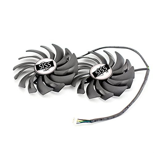 SISS Lüfter für Grafikkarte Kühler kompatibel mit MSI GTX 1080TI GAMING TWIN FROZR GTX1070 GAMING GTX1060-GAMING Radeon RX 470-480 RX570-580 PLD10010B12HH 4Pin Video Card Cooler Fan