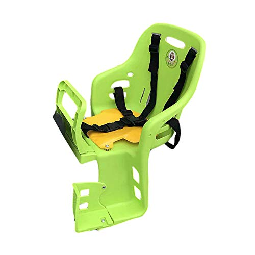Children Bike Seat, Safety Comfortable Deluxe Child Rear Mount Bicycle Mounted Carrier Cushions with Seat Belt Great for Most Bicycles Attachment