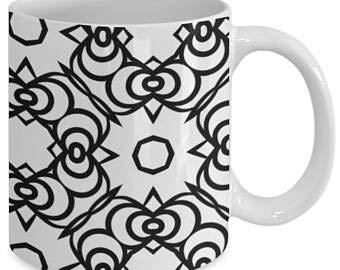 Taza de café con diseño de mandala, para adultos, color me, taza de café con diseño de mandala, color de tu propio café 53