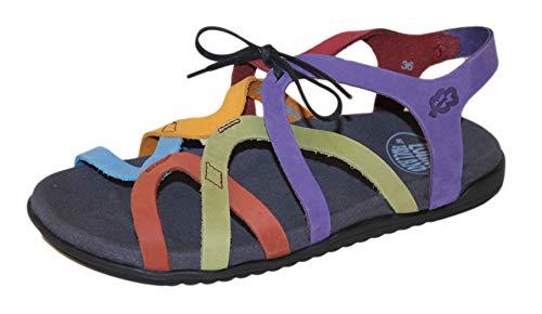 Loints of Holland 65980 Swing Multicolor Sandale, Mehrfarbig - mehrfarbig - Größe: 39 EU