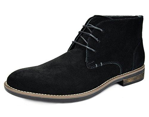 Bruno Marc Men's URBAN-01 Black Suede Leather Lace Up Oxfords Desert Boots Size 11 M US