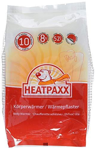 HeatPaxx Körperwärmer | 10 Wärmepflaster | EXTRA WARM | Dünnes und leichtes Wärmepflaster für Bauch und Rücken | punktgenaue Wohlfühlwärme | Bodywärmer – Rückenwärmer (10)
