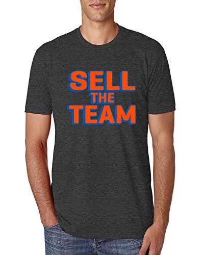 Sell The Team NY Basketball | Mens New York Sports Premium Tri Blend T-Shirt, Vintage Black, Large