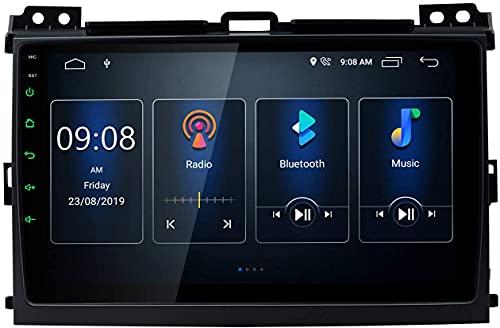 Android 10 Estéreo para automóvil Pantalla IPS de 9 pulgadas Radio de automóvil BT5.0 Navegación GPS DSP integrado Admite CarAutoPlay Salida RCA completa 1080P DVR DAB + para Toyota Land Cruiser Prad
