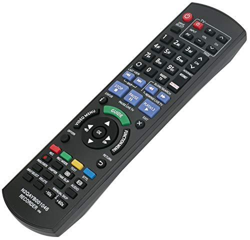 ALLIMITY N2QAYB001046 Fernbedienung Ersetzt für Panasonic Blu-ray Recorder DMR-BCT750 DMR-BCT755 DMR-BCT820 DMR-BCT850 DMR-BCT855 DMR-BCT950 DMR-BST720 DMR-BST750 DMR-BST755 DMR-BST835