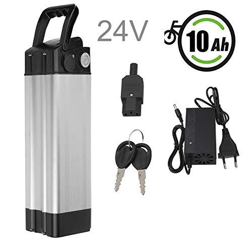 Vinteky 24V 10.4AH/15AH/20AH Batería de E-Bike, Batería de Iones de Litio para Bicicleta Eléctrica con Cargador de Bloqueo Antirrobo(10.4AH)