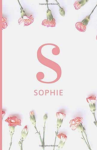 Sophie: Notebook Journal with Pink Monogram Initial Letter S and Name