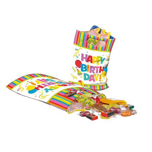 Susy Card 40012353 Partytüten Happy Birthday, 6er Packung