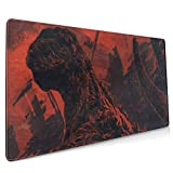 Shin Godzilla Poster Extended Gaming Mouse Mat, DIY Custom Professional Mouse Pad (35.5x15.8In),Desk Pad Keyboard Pad Mat, Water-Resistant, Non-Slip Base, for Work & Gaming, Office & Home