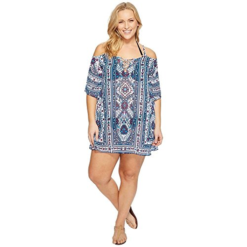 BECCA by Rebecca Virtue レディース トップス ワンピース Plus Size Inspired Tunic Cover-Up 並行輸入品