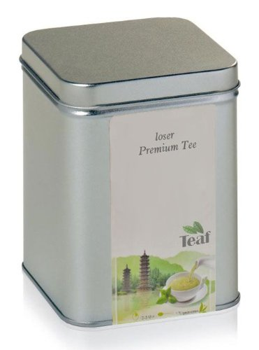 MYRTE-INGWER - Aromatisierter grüner Tee - in Silver Dose (Teedose) - 90x90x112mm (200g)