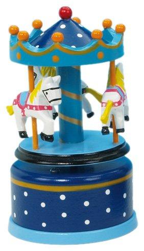 Musicbox World 16001 Carrousel Musique Dixieland Bleu 130mm