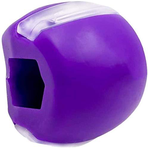 Jawline 2.0,,2PC Kiefer-Trainingsgerät,Upgrade Gesichts-Trainingsball, Kiefertrainer, Fitness-Ball, Kauen, Kieferlinie, Fitness-Ball, Kiefer-Übung, Gesichtstrainer, 3,5 x 2,5 x 2,5 cm,Farbe: Violett