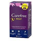Carefree Night Slipeinlagen, Schutz für die Nacht, Extra breit und lang, 36 Stück