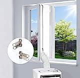 egnbu 400cm guarnizione universale per finestre, kit per finestre portatile per condizionatore d'aria e asciugatrice mobili, doppia cerniera, facile da montare, protezioni per ricambio d'aria