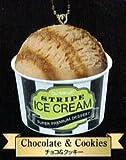 Stripe Ice Cream Super Premium Frozen Dessert Keychain ~ Chocolate & Cookies