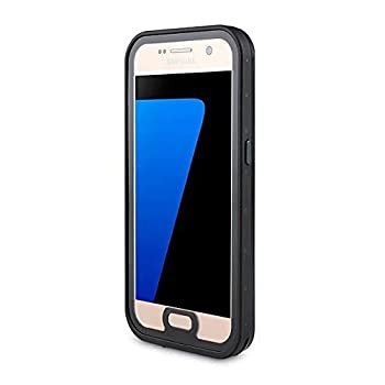 Mangix Waterproof Case Compatible Galaxy S7,Built-in Screen Protector Dust-Proof Snow-Proof Shock-Proof Waterproof Case for Samsung Galaxy S7-Black