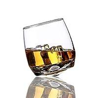 Home+ウイスキーグラス, タンブラーを旋回ワイングラススコッチウイスキーロックグラス用バーオフィス家庭用ビールジャック・ウイスキークリスタルカップ (Color : 1 Pieces)