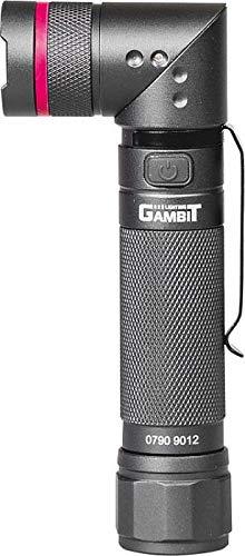 Gambit Tools LC L LED Taschenlampe 300 Lumen SMD-Chip-Technologie 90° drehbar UV-Lichtchip 395NM Akku aufladbar USB Profi Werkstattlampe
