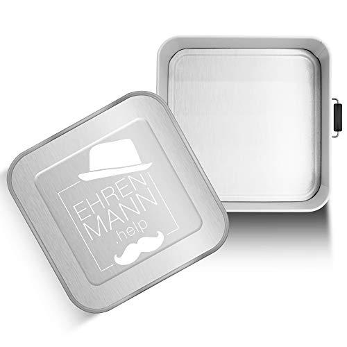 EHRENMANN.help Lunchbox Metall XXL   3 Liter Brotdose für die ganze Familie   inkl. Spende an Hilfsorganisation nach Wahl   Hochwertige XXL Bento Box aus Metall (SOS Kinderdörfer weltweit)
