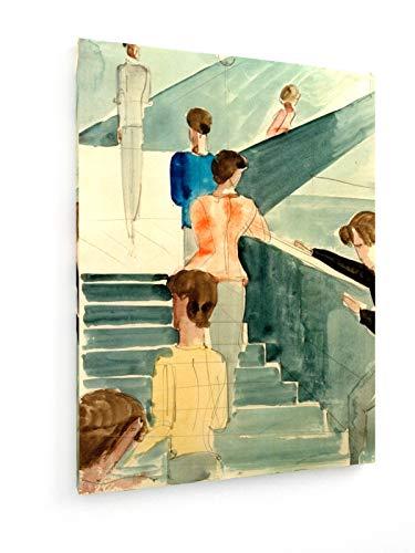 Oskar Schlemmer - Bauhaus - 75x100 cm - Leinwandbild auf Keilrahmen - Wand-Bild - Kunst, Gemälde,...