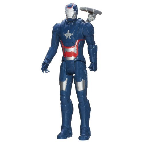Marvel Iron Man 3 Titan Hero Series Avengers Initiative Movie Series Iron Patriot Action Figure, 12-Inch