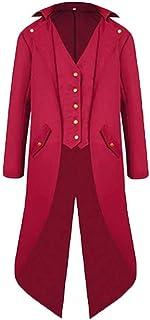 Men's Steampunk Vintage Jacket Gothic Victorian Uniform Costume Long Coat Feast Clothing Men Fashion