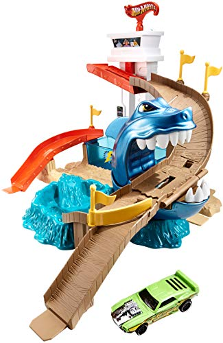 Hot Wheels - Pista Tiburón Devorador, Pista de Coches de Juguete (Mattel BGK04)