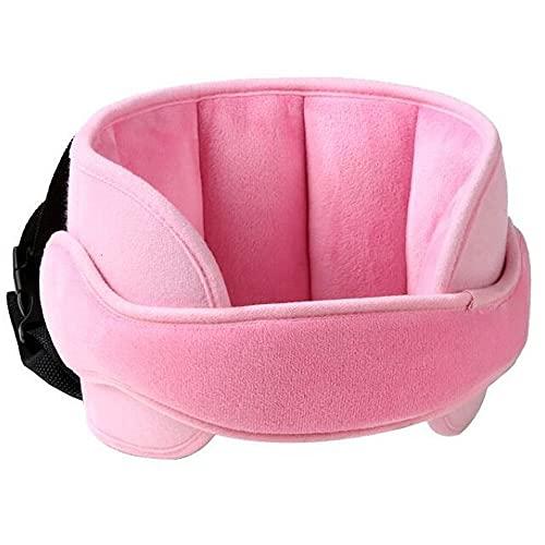 Kindersitz Kopfstütze, Kopfschutz Schlafen, Autositz Nackenstütze Kinder Einstellbar kopfschutz Kopfhalterung Kindersitz Baby,Geeignet für Autositze, Schlafkissen Kopfhalterung,Rosa