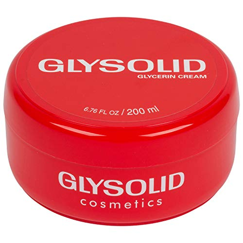 Glysolid Glycerin Skin Cream - Thick, Smooth, and Silky - Trusted Formula for Hands, Feet and Body 6.76 fl oz (200ml Jar)