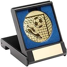 Trophy Shack Gouden voetbalmedaille compleet met presentatiehoes + GRATIS gravure JR1-TY15A