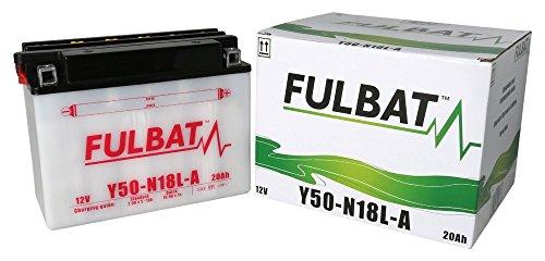 Batterie FULBAT Y50-N18L-A 12V 20Ah 260A Länge: 205 x Breite: 90 x Höhe: 162 (mm)