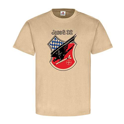 Jagdbombergeschwader 32 JaboG Wappen Lagerlechfeld Fliegerhorst - T Shirt #18193, Größe:XL, Farbe:Khaki
