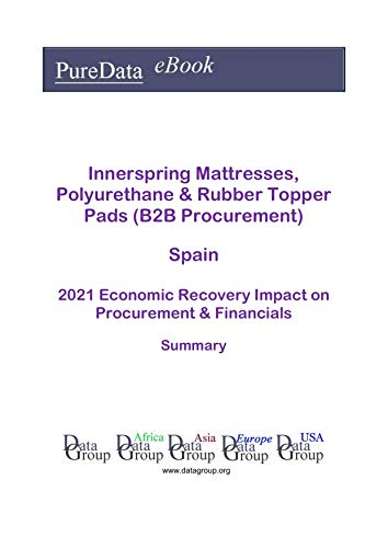Innerspring Mattresses, Polyurethane & Rubber Topper Pads (B2B Procurement) Spain Summary: 2021 Economic Recovery Impact on Revenues & Financials (English Edition)