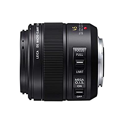Panasonic Lumix G Leica Dg Macro-elmar Lens, 45mm, F2.8 Asph., Professional Mirrorless Micro Four Thirds, Mega Optical I.s., H-es045 (usa Black) from Panasonic