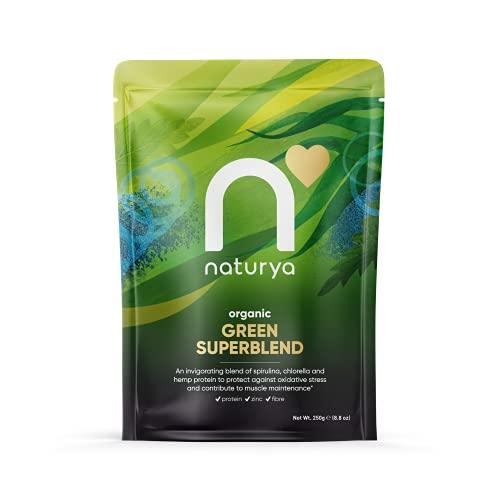 Naturya   Organic Green Superfood Powder Blend 250g   Alkaline, Vegan, Gluten-Free Superfood Powder