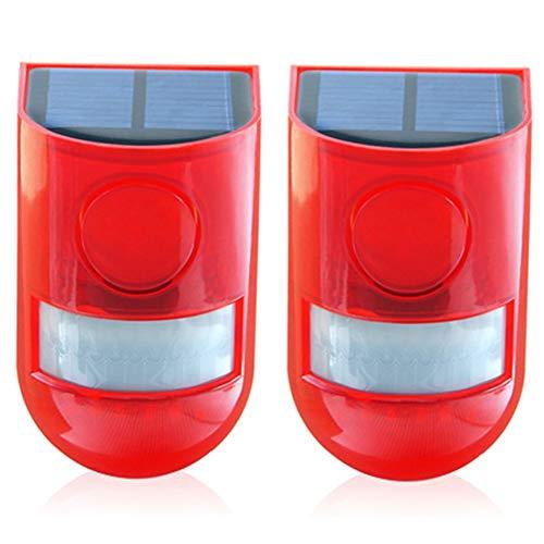 Alarma de seguridad solar IP65 resistente al agua con sensor de movimiento LED y luz intermitente, 110 dB, sirena fuerte, sistema de alarma de seguridad para el hogar