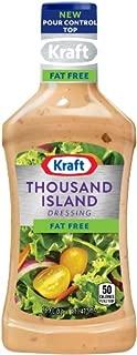 Kraft Thousand Island Fat Free Salad Dressing (16 oz Bottles, Pack of 6)